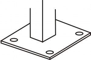 Bits of Steel Supplies - Standard Base Plate Bolted